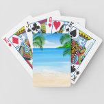 Opinión de la playa baraja de cartas bicycle