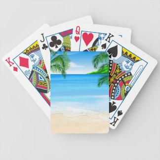 Opinión de la playa baraja de cartas