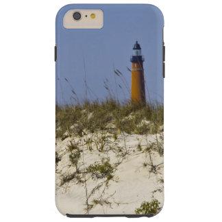 Opinión de la playa del faro de la entrada de funda para iPhone 6 plus tough