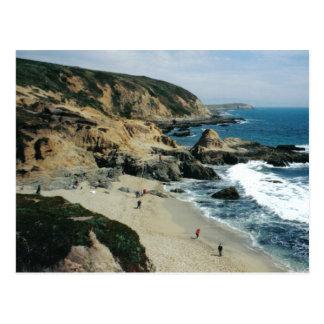 Opinión de la playa en la bahía del Bodega, postal