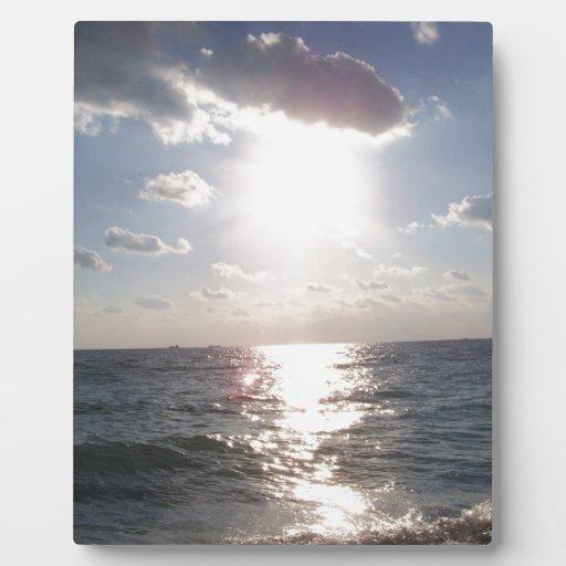 Opinión de la playa placa para mostrar