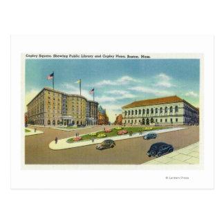 Opinión de la plaza y del cuadrado de Copley el Tarjeta Postal