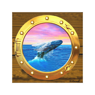 Opinión de la porta una ballena de violación impresión en lienzo
