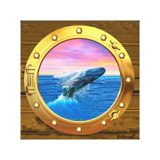 Opinión de la porta una ballena de violación impresión en lona estirada