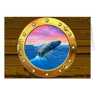Opinión de la porta una ballena de violación tarjeta de felicitación