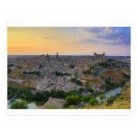 Opinión de la puesta del sol de Toledo España Postal