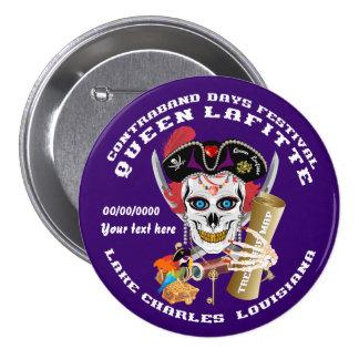 Opinión de la reina Lafitte del pirata sobre Pin Redondo De 3 Pulgadas