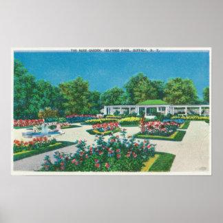 Opinión de la rosaleda del parque de Delaware Impresiones
