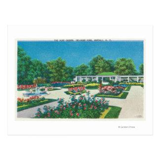 Opinión de la rosaleda del parque de Delaware Postal