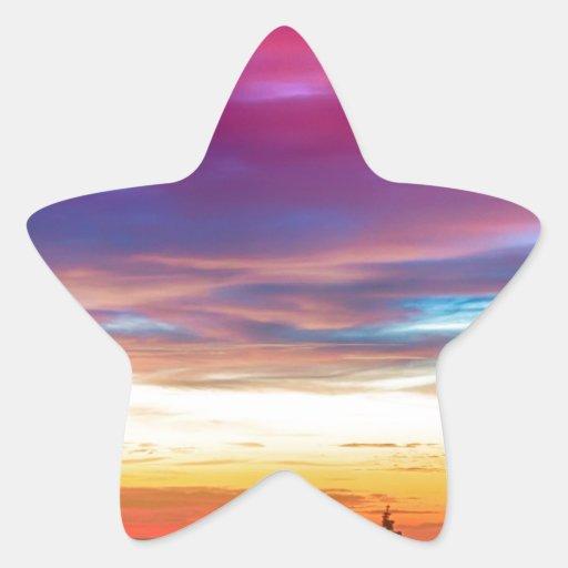 Opinión de la salida del sol de las luces de la calcomanías forma de estrella personalizadas