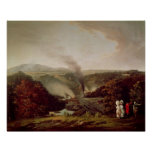 Opinión de la tarde Coalbrookdale, 1777 Póster