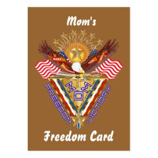 Opinión de la tarjeta del paso libre de la mamá so plantilla de tarjeta de negocio