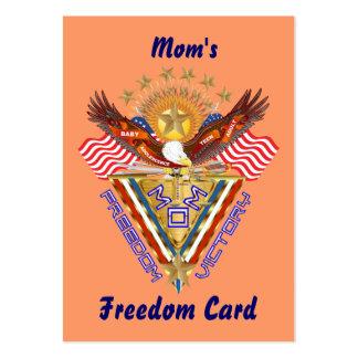 Opinión de la tarjeta del paso libre de la mamá so plantilla de tarjeta de visita