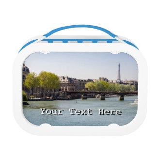 Opinión de la torre Eiffel del Sena del río en