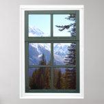 Opinión de la ventana de las montañas rocosas de C Impresiones