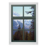Opinión de la ventana de las montañas rocosas de C Póster