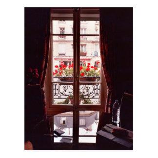 Opinión de la ventana de París Tarjeta Postal