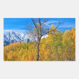 Opinión de la zona remota del follaje de otoño de rectangular altavoces