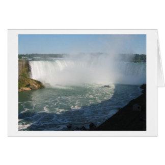 Opinión de las caídas: Niágara los E.E.U.U. Canadá Tarjeta De Felicitación