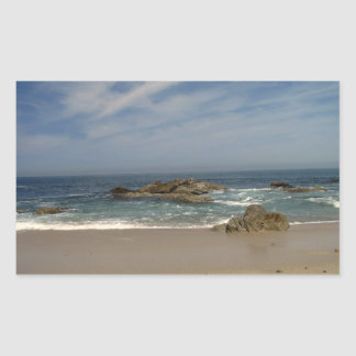 Opinión de las vacaciones pegatina rectangular