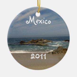 Opinión de las vacaciones; Recuerdo de México Adorno Navideño Redondo De Cerámica