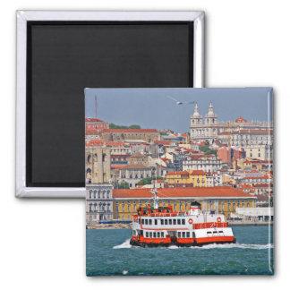 Opinión de Lisboa del río Tagus Imán Cuadrado