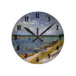 Opinión de los barcos de Rowing del río w, arte de Relojes De Pared