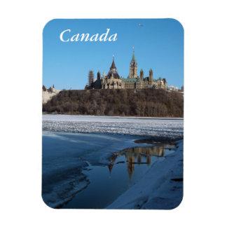 Opinión de los edificios del parlamento de Canadá Imanes