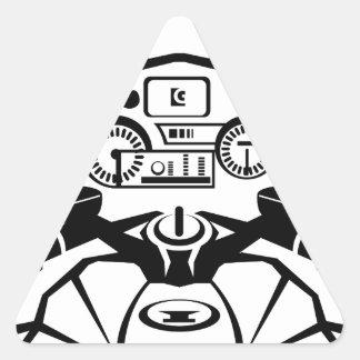 Opinión de los jinetes de la motocicleta pegatina triangular
