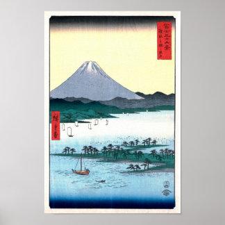 Opinión de Miho Matsubara la bella arte de Fuji Póster