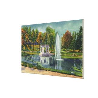 Opinión de monumento de guerra del parque del cong impresiones de lienzo