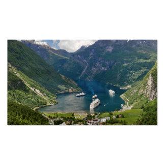 Opinión de Noruega a Geiranger de Flydalsjuvet Tarjetas De Visita