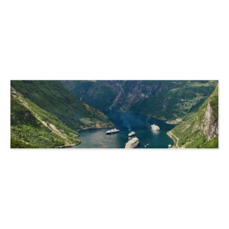 Opinión de Noruega a Geiranger de Flydalsjuvet Tarjetas De Visita Mini