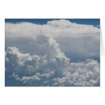 Opinión de nubes de cúmulo del cielo felicitacion
