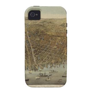 Opinión de ojo de pájaros de San Francisco iPhone 4/4S Carcasas