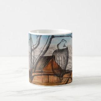 Opinión de ojo de pájaros taza de café