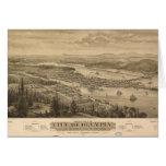 Opinión de Olympia, Washington (1879) de Birdseye Tarjeta De Felicitación