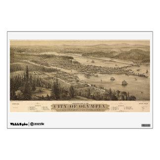 Opinión de Olympia, Washington (1879) de Birdseye Vinilo Decorativo