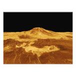 opinión de perspectiva 3D de Maat Mons en Venus Arte Fotografico