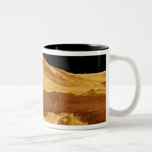 opinión de perspectiva 3D de Maat Mons en Venus Taza