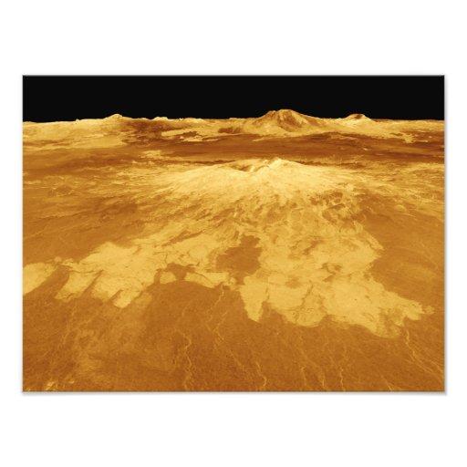opinión de perspectiva 3D de Sapas Mons en Venus Fotografía