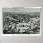 Opinión de perspectiva de la ciudad de Chaux, C. 1 Póster