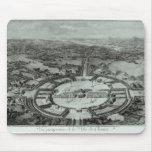 Opinión de perspectiva de la ciudad de Chaux, C. 1 Tapete De Ratones