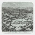 Opinión de perspectiva de la ciudad de Chaux, C. Pegatina Cuadrada