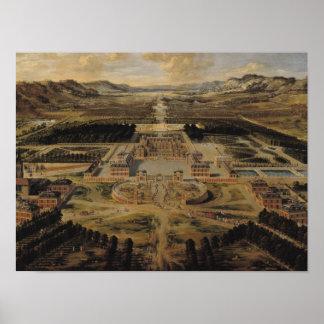 Opinión de perspectiva del castillo francés impresiones