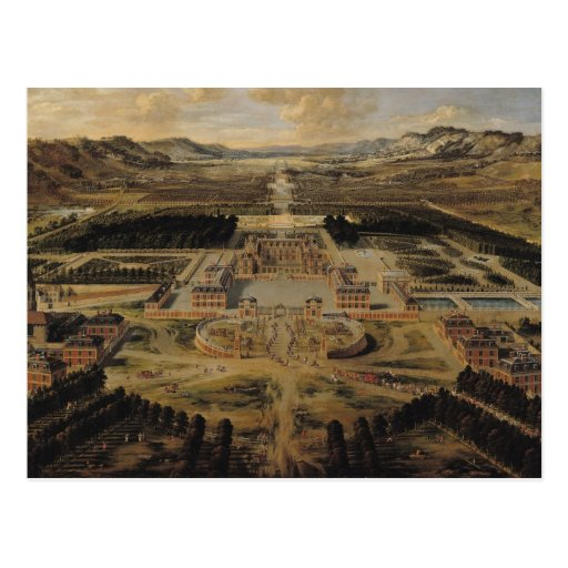 Opinión de perspectiva del castillo francés postal