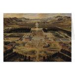 Opinión de perspectiva del castillo francés tarjeton