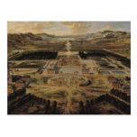 Opinión de perspectiva del castillo francés tarjetas postales