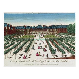 Opinión de perspectiva del Palais Royal Tarjetas Postales