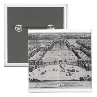 Opinión de perspectiva general del castillo francé